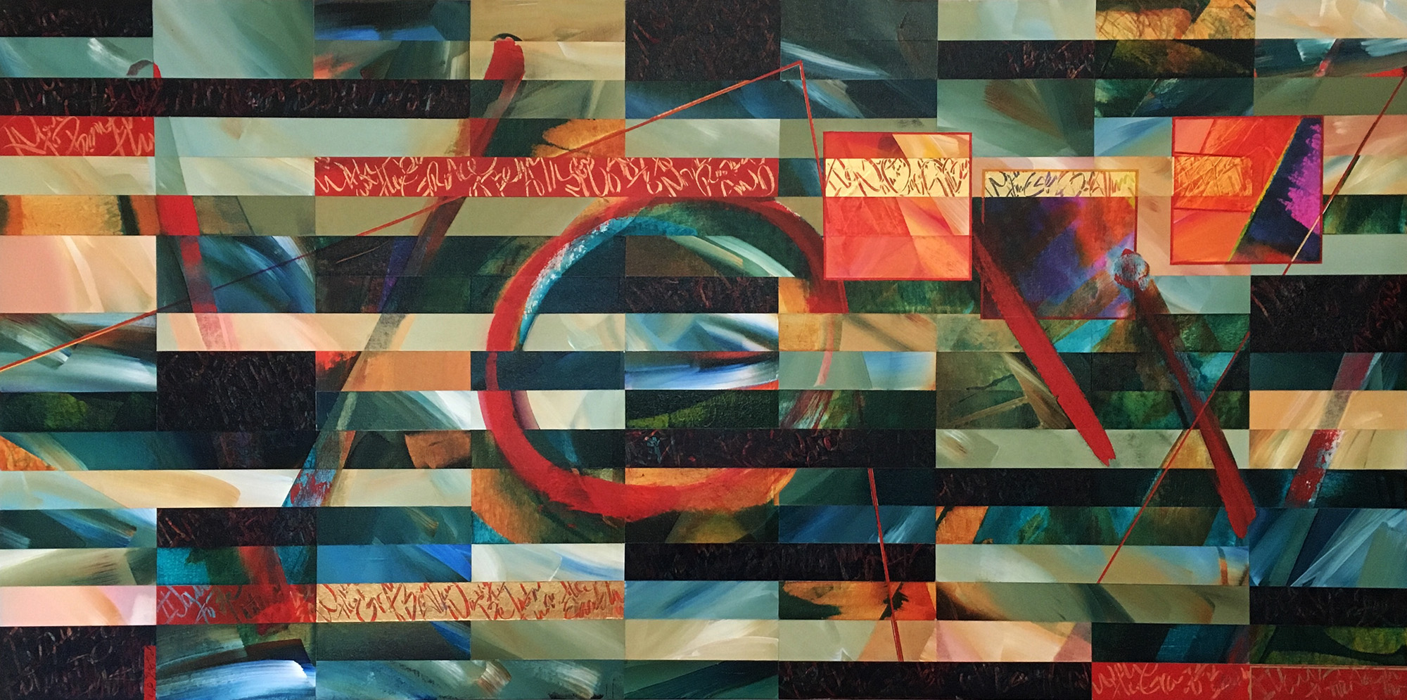 """Vow series no. 6, Acrylic on Canvas, 24"""" x 48"""""""